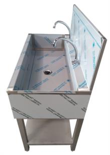 lavamani-lavabo-acciaio-inox-due-posti-piedini-807 S2P02
