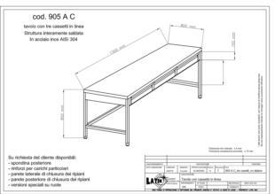 tavolo-acciaio-inox-tre-cassetti-senza-ripiano-905AC