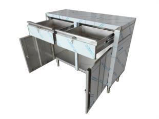 tavolo-armadiato-armadio-con-cassetti-ante-battente-acciaio-inox