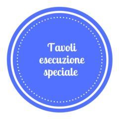 tavoli esecuzione speciale in acciaio inox AISI 304