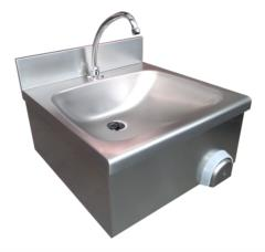 lavamani acciaio inox 50x50 con comando push
