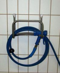 portatubo per gomma in acciaio inox fissaggio a parete