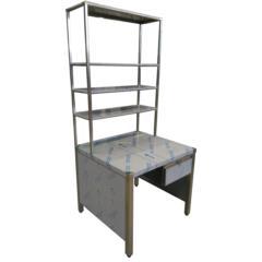 tavolo con scaffalatura per spedizioni logistica acciaio inox