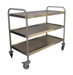 carrello con ripiani in acciaio inox su misura secondo le esigenze del cliente