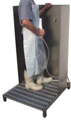 lavagrembiule in acciaio inox pulizia stivale e grembiule