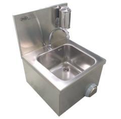 lavamani rettangolare in acciaio inox AISI 304 45x45
