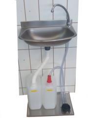 lavamani in acciaio inox a muro senza rete idrica
