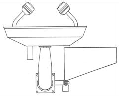 lavaocchi-emergenza-fissaggio-parete-acciaio-inox