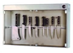 sterilizzatore coltelli con calamita e lampada germicida sanificazione igienizzazione