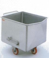 vagonetto in acciaio inox predisposto per essere movimentato da sistemi automatici