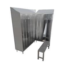armadio in acciaio inox AISI 304 varie configurazioni interne e panche