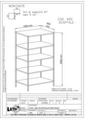 scaffalature in acciaio inox diverse dimensioni in base alle esigenze del cliente